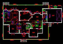 Floor Plans Autocad   VAlineAutoCAD House Plan Template