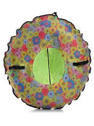 "Санки-ватрушка ""Цветочки"" диаметр 80 см. ""<b>Fani Sani</b>"" Fani&Sani ..."