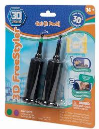 <b>3D Magic</b> 2 картриджа с гелем <b>FreeStyle</b> 91003 (фиолетовый и ...