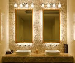bathroom light fixtures in brushed nickel vanity above mirror lighting bathrooms