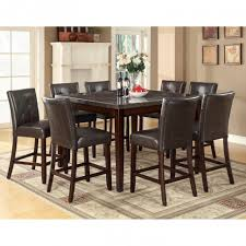 8 Chair Dining Room Set Dining Room Modern Dining Set With Square Granite On Top Table