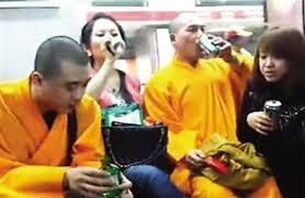 Image result for hình tu sĩ phật giáo uống rượu và gái