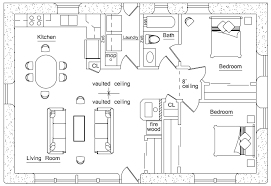 Rectangular Square   Straw Bale House Plans   Page Solar Ranch  click to enlarge