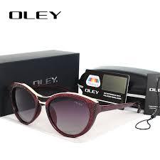 <b>OLEY</b> High Quality <b>Cat Eye Sunglasses</b> Women brand designer ...