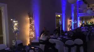blue uplighting before after blue wedding uplighting