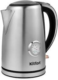 Купить <b>Чайник</b> электрический <b>KITFORT КТ</b>-<b>676</b>, серебристый в ...