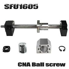 <b>SFU1605 set SFU1605 rolled ball</b> screw C7 with end machined + ...