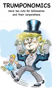 Image result for cartoon of Trumps tax plan