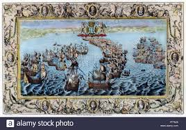 spanish armada ntwo battles between the english royal navy ntwo battles between the english royal navy and the spanish armada left the spanish galleon san salvador is set on fire and captured by the english