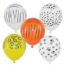 10Pcs 12inch <b>Animal Balloons</b> Birthday <b>Balloons Jungle Party Safari</b> ...