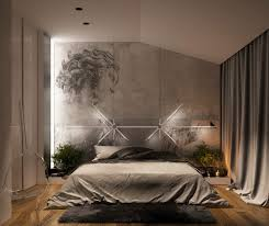 bedroomartistic bedroom lighting theme with acrylic chair and wooden floor also grey rugs and artistic bedroom lighting ideas