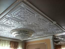 sagging tin ceiling tiles bathroom: faux tin ceiling tiles spaces with ceiling tile ceiling tiles