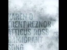 """The Girl with the Dragon Tattoo """"Immigrant Song"""" -- Karen O with ..."""