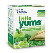 Plum Organics <b>Little Yums</b> Spinach, Apple and Kale <b>Teething</b> Wafers