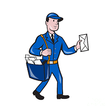 postman   free download clip art   free clip art   on clipart librarymailman postman delivery worker isolated cartoon by aloysius