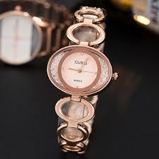 <b>CUSSI 2019 Luxury Brand</b> Women Watches Rose Gold Oval Ladies ...