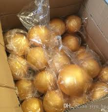 Free Shiping Wholesale <b>15cm</b> Natural <b>Gold</b> Styrofoam Round Balls ...