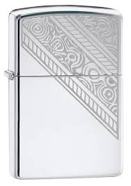 Зажигалка ZIPPO Lace с покрытием High Polish Chrome, латунь ...