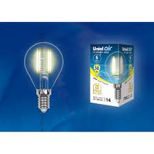 Светодиодная <b>лампочка Uniel LED</b>-G45-6W AIR UL-00002201 в ...