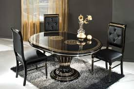 f very attractive small dining room remodeling ideas the presenting contemporary high gloss black and gold oval dining table with round base pedestal attractive high dining