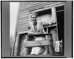 secondat coal miner s wife  wolcott s caption wife of unemployed coal miner suffering from t b living in old company store abandoned mining town of marine west virginia