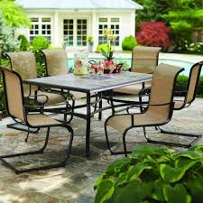seven piece dining set: hampton bay belleville  piece patio dining set fcsst the home depot