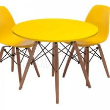 interesting dining room set with eames chair replica and bright yellow bedroominteresting eames office chair replicas style