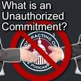 unauthorized commitment