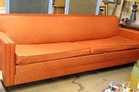 pleasurable simple orange microfiber couch living room furniture design models with square track arms and padded burnt orange furniture