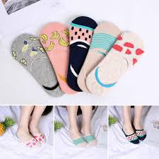 <b>1Pair</b> Invisible Non slip Low Cut Socks <b>Fashion</b> Candy Color ...