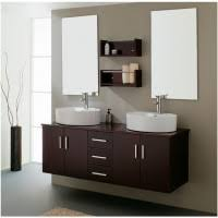 bathroom vanity mirror ideas modest classy: bathroom beautiful classy bathroom vanities design ideas feature twins rectangle frmeless wall mirror and dark