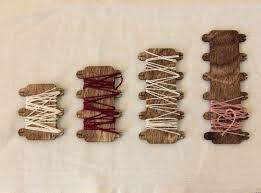 <b>Cross Stitch</b> Thread Holders Embroidery floss bobbins wooden | Etsy
