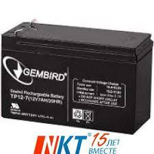 Аккумуляторная <b>Батарея Gembird</b> (<b>12V 7</b>,5Ah) (12В 7,5Ач) (<b>BAT</b> ...