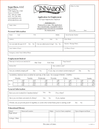 9 printable job applications budget template letter cinnabon employment application form printable by krishna53