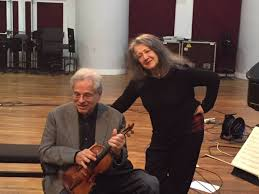 <b>Itzhak</b> Perlman - With the great pianist <b>Martha Argerich</b> during a ...