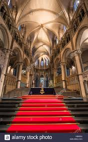 england style steps: red carpet and steps to the main altar at canterbury cathedral england founded in the sixth century rebuilt in the romanesque style by the normans