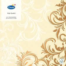 Купить <b>Салфетки бумажные Duni</b> Grace Cream 3слоя 33*33см ...