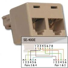 rj11 phone to rj45 jack taking a close look at the wiring diagram it appears to follow t568b on the rj45 side you can still use it t568a pinouts but line 2 and 3 will be
