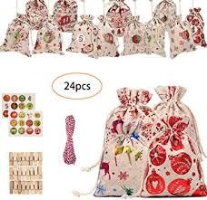 <b>Christmas Drawstring Gift</b> Bags Assorted <b>Christmas Gift</b> Wrapping ...