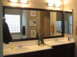 l delightful double sink bathroom vanity ideas with dual light fixtures lighting over rectangular shaped mirror framed wall mounted 1120x840 bathroom mirrors lighting ideas