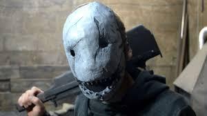 как сделать маску ТРАПЕРА How to make Trapper's mask - YouTube
