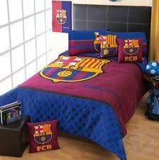 club fcb barcelona football soccer comforter sheet set new boys bedding decor barcelona bedroom