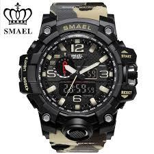 <b>2017 SMAEL</b> Camouflage Military Digital <b>Watch Men'S</b> G Style ...