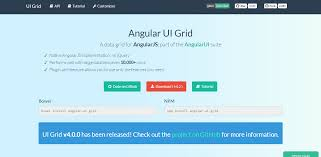 an extensive list of angularjs frameworks to make quick apps it is the simplest method to work a table or grid an ability to bind cells to complex properties or functions this framework contains rich