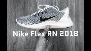 <b>Nike Flex RN 2018</b> 'white/black/cool grey'   UNBOXING & ON FEET ...
