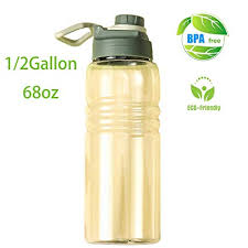 Diller 68oz/0.5 Gallon Big Water Bottle Large Capacity <b>Sports</b> Jug ...