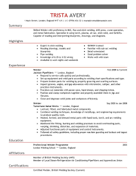 best welder resume example livecareer create my resume