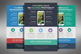 flat design business flyer typography flyer template and design flat design business flyer by creativenauts on creative market