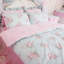 shabby rose bedding set blue shabby chic bedding