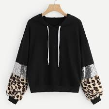 Price: $14.95 | Black <b>Glamorous</b> Long Sleeve Leopard Pullovers